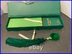 RARE Rita Skeeter Quick Quotes Quill & Notepad Green And Gold-Harry Potter