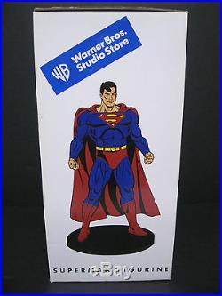 RARE! SUPERMAN FIGURINE from WARNER BROS STUDIO STORE- NEW IN ORIGINAL PACKAGE