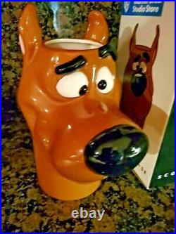 RARE Scooby Doo Vase NIB Vtg. 1997 Warner Bros. Studio Store exclusive free ship
