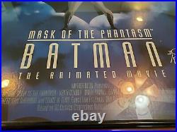 RARE Signed Bob Kane Ltd Ed BATMAN Mask Phantasm Warner Bros 1993 POSTER w COA