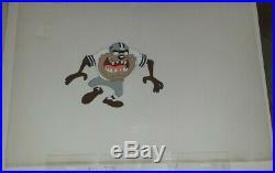 RARE Taz Tazmanian Devil Dallas Cowboys Animation Cel TV Commercial NFL Football