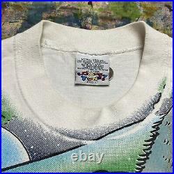 RARE Vintage 1995 Freeze Warner Bros TAZ Tunes Rougin It Camping T-Shirt XL