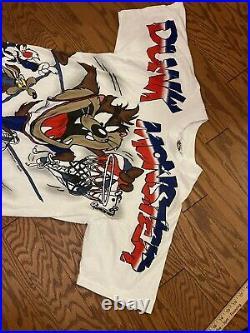 RARE Vintage 1996 Freeze Warner Bros TAZ Tunes Dunk monster T-Shirt Mens Size L