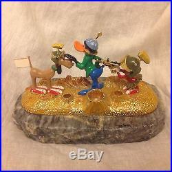 RARE Warner Bros. Ron Lee 1993 Duck Dodgers & Marvin The Martian Figurine