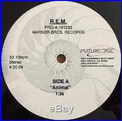 R. E. M. Animal RARE 12 STUDIO ACETATE 1-SIDED PROMO FUTURE DISC ARCHIVE COPY REM