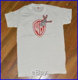 RaRe 1970's WARNER BROS. RECORDS vtg concert promo t-shirt (S) 70s Bugs Bunny