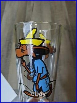 Rare 1973 Slow Poke Rodriguez Warner Bros Collector Series Pepsi Glass cup