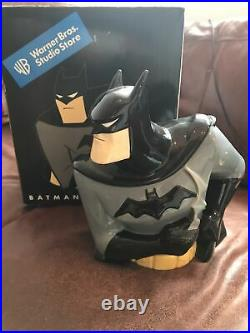 Rare BATMAN COOKIE JAR Ceramic, 11.6, Warner Bros Studio With Box Vintage DC