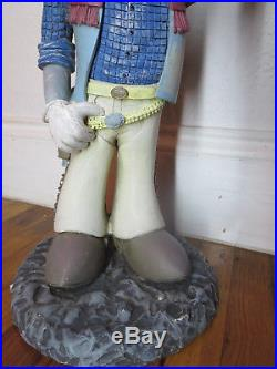 Rare Bugs Bunny Cowboy 16 resin statue, Warner Brothers Delancey St, 1994