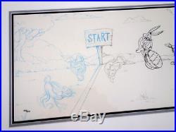 Rare Cel Bob Clampett Process of Animation Bugs Bunny & Tortoise Warner Bros