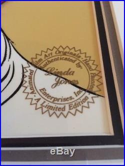 Rare Chuck Jones Hand Signed Animation Cel Rabbit of Seville