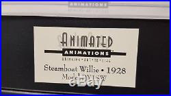 Rare Disney Mickey STEAMBOAT WILLIE ANIMATED ANIMATIONS Cel Mechanical DY1SW New