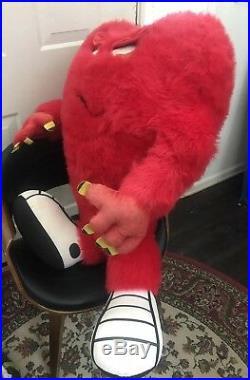 Rare Giant 36 Inch Gossamer Looney Tunes Warner Bros plush Red Monster Large