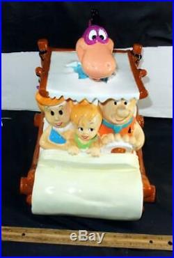 Rare Large Flintstones Cookie Jar Mint In The Box Fred Dino Pebbles Warner Bros
