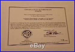Rare Limited Ed Sericel Sylvester Unplugged 1995 Warner Looney WB Tweety
