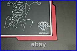 Rare Original Warner Brothers Batman Artist Proof Cel, Model Sheet Harley Quinn