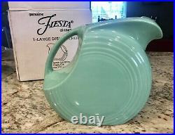 Rare Scooby Doo Seafoam Green Fiesta Disk Pitcher Warner Bros. Studio Store Nib