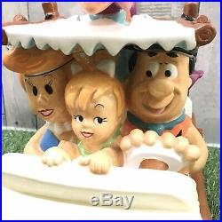 Rare Vintage Retro Flintstones Car Ceramic Cookie Jar Warner Bros Store 1999