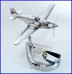 Rare WW2 P-51 Mustang Articulating Fighter Airplane Model Warner Bros. Award