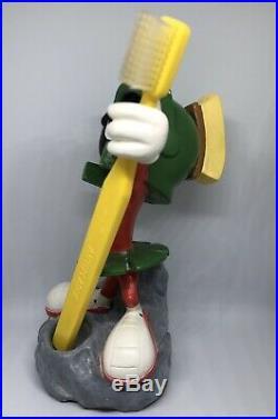 Rare Warner Bros Looney Tunes Marvin the Martian Figurine Toothbrush Holder