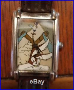 Rare Warner Brothers Wile E Coyote Fossil Watch withSling Shot Stand ONLY 500 MADE