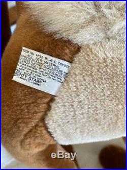 Rare Wile E Coyote Warner Bros Road Runner Vintage 1987 Plush Stuffed Animal 42