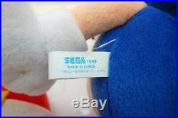 SEGA Sonic 16 Official Japanese Sonic The Hedgehog Plush Figure UFO 1999 RARE