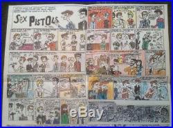 Sex Pistols NMTB Rare USA ORIGINAL 1977 Warner Bros Promo Poster +COA Punk PIL