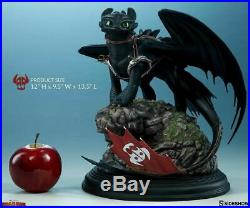 Sideshow Toothless How To Train Your Dragon Statue + art print board Rare MIB