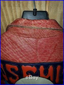 Super Rare Vintage Fine Heavy Leather Jacket Yosemite Sam Looney Tunes Acme XXL