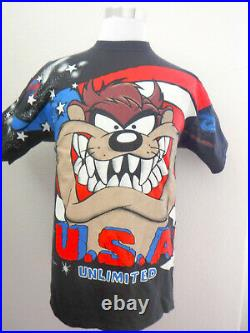 Super Rare Warner Bros. Vintage Taz Looney Tunes Unlimited 90's Men's XL T-shirt