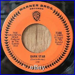 THE GRATEFUL DEAD rare Canada picture sleeve 45 Dark Star / Born Cross Eyed