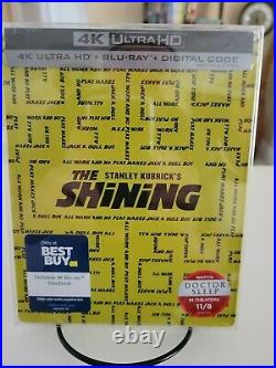The Shining 4K Blu-Ray Best Buy Exclusive Steelbook Sealed Rare Stanley Kubrick