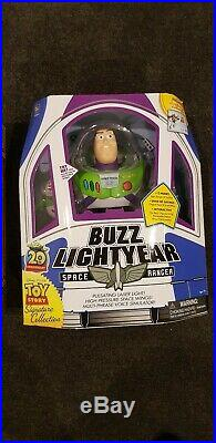 Toy Story Collection Thinkway 20th Anniversary Buzz lightyear And Woody RARE NEW