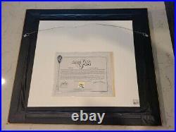 UDA Michael Jordan signed Framed Space Jam Cel 77/750 Warner Bros autograph RARE