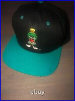 VINTAGE 90's Marvin The Martian Hat Blue Bill Warner Bros. Space Jam/Alien RARE