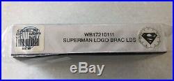 VINTAGE RARE Superman Warner Bros. Studio Store Silver Link Watch Super Rare