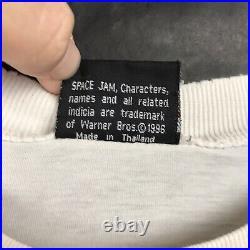 VTG 90s Space Jam Monstars Bupkus Shirt 1996 Super Rare Size L White Warner Bros