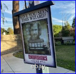 Very Rare 2003 Harry Potter Prisoner Of Azkaban Movie Display Standee 9ft Stand