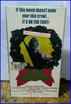 Vhs Black Christmas Rare Oop Original Slasher