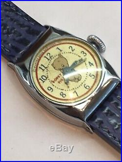 Vintage 1940s Porky Pig Wrist Watch Looney Tunes Warner Bros Ingraham Rare