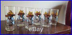 Vintage 1973 Pepsi Warner Bros Slow Poke Rodriguez Collector Series Glass Rare
