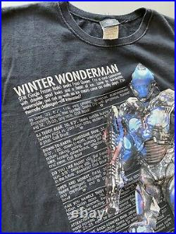 Vintage 1996 Mr. Freeze Batman & Robin Movie DC Comic Promo Shirt Mens L RARE