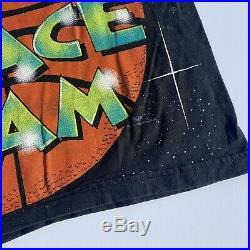Vintage 1996 OFFICIAL WARNER BROS SPACE JAM ALL OVER T Shirt Looney Jordan Rare