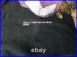 Vintage 1996 Space Jam L/S Tee Full Court Press Warner Bros Black RARE