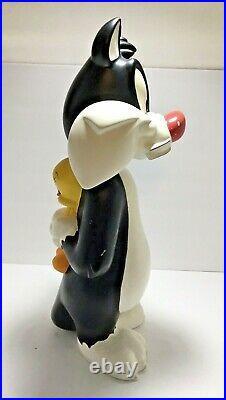 Vintage 1996 Warner Bros Sylvester Hiding Tweety Bird 23 Statue Looney WB Rare