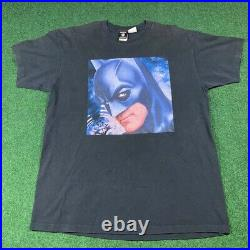 Vintage 1997 Warner Bros. Batman And Robin Movie Promo Shirt Size XL Rare