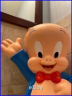 Vintage 2000 Rare Porky Pig Resin 20 Statue Looney Tunes Bugs Bunny Warner Bros