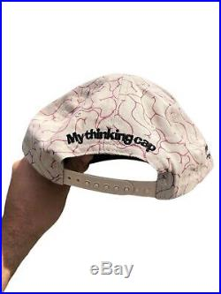 Vintage 90s Pinky And The Brain All Over Print Snap Back Hat Warner Bros. Rare