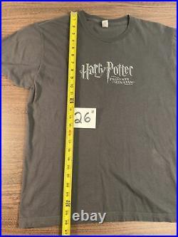 Vintage Harry Potter Movie Promo T Shirt The Prisoner Of Azkaban 2004 Rare